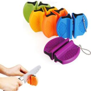 Mini Fast Knife Sharpener Butterfly Shape Vegetable Choppers Portable Outdoor Kitchen Tools Random Color