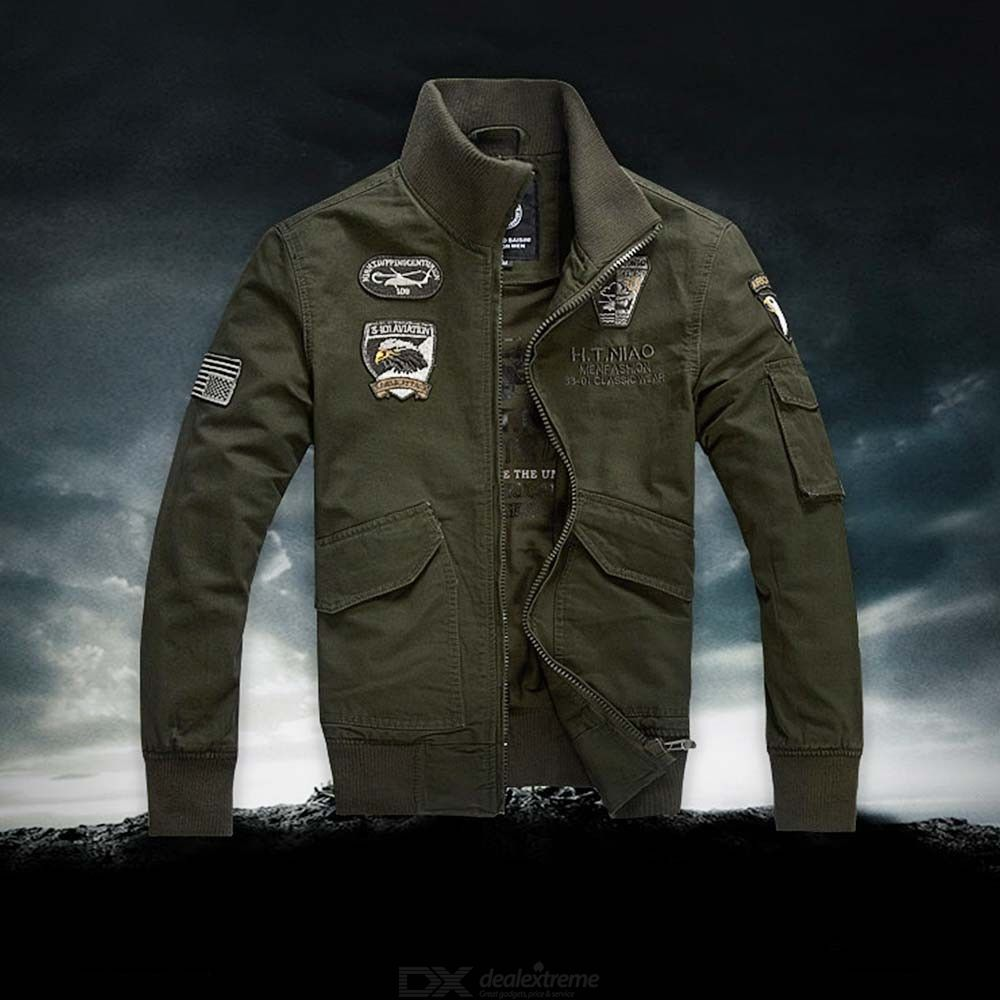 5ef9872786 Winter Thick Plus Size Military Army Pilot Bomber Jacket Tactical Man Coat