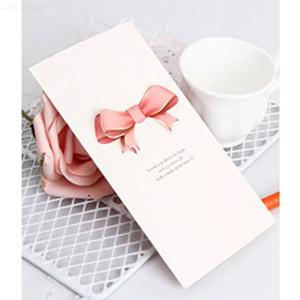 Paper Greeting Cards Bow Butterfly Heart Random Shape For Valentine's Day Anniversary Birthday
