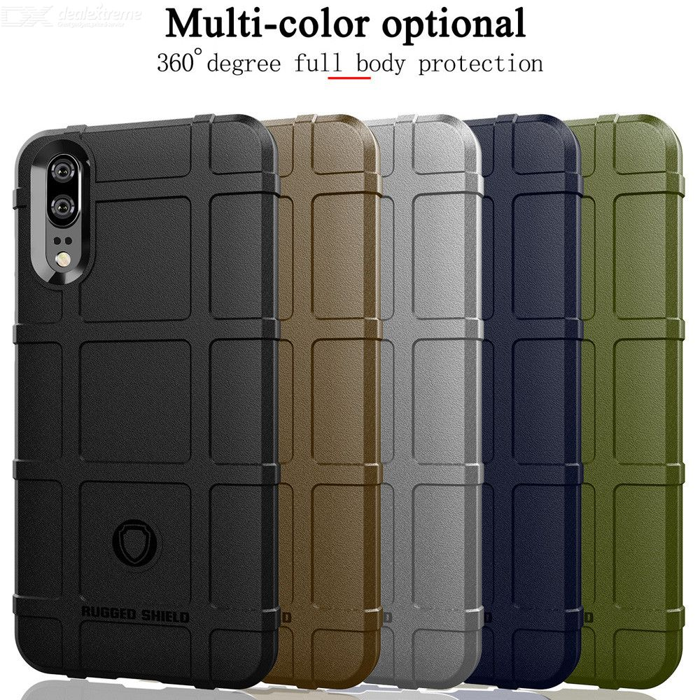 Rugged Shield Silicone Armor Shockproof Cover Phone Case for Huawei P20    P20 Pro   P20 ae245dfefbb