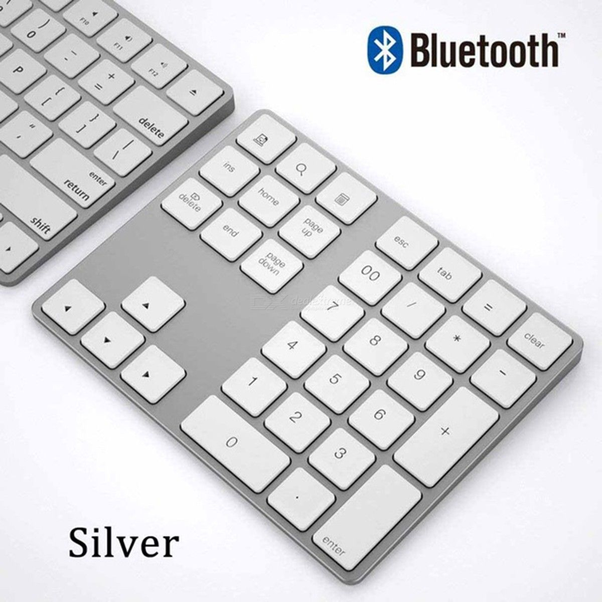 2e846932ace Wireless Numeric Keypad Mini Aluminum Number Keyboard For Window IOS Mac OS  Android - Free shipping - DealExtreme