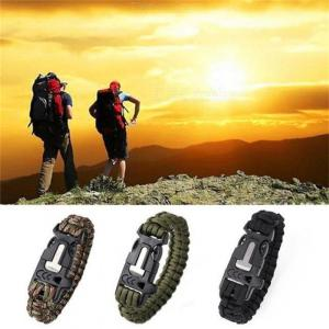 Multi-functional Camping Hiking Climbing Paracord Bracelet Outdoor Survival Gear Lifesaving Braided Tactical Whistle