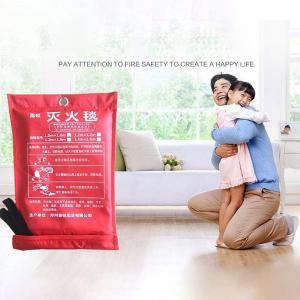 1 X 1m Fiberglass Fire Blanket Outdoor Emergency Survival Kit For Traveling Hiking Climbing Hunting