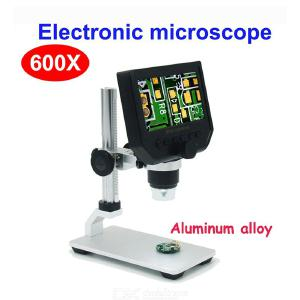 600X Digital Electronic Video Microscope 4.3 Inch HD LCD Soldering Phone Repair Magnifier + Metal Stand