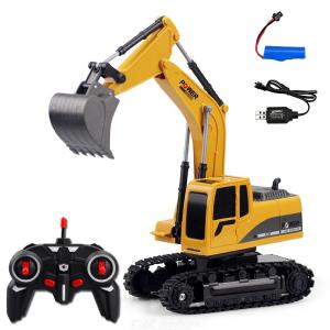 Full Functional RC Excavator 6 Channel Rechargeable Construction Tractor