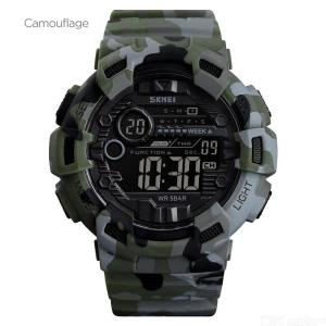 SKMEI Mens Military Watch Waterproof Digital Sports Watch With LED Backlight