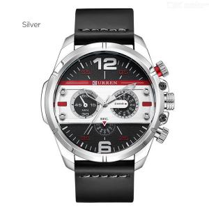 CURREN 8259 Casual Watch Fashion Quartz Wristwatch With Leather Strap For Men