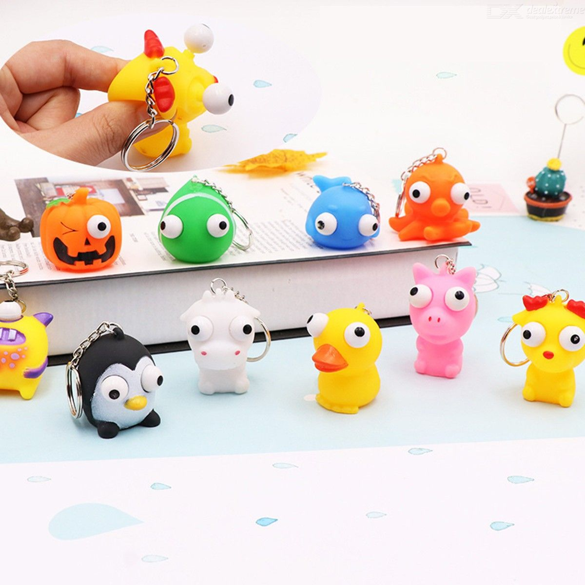 Image of Mini Squeeze Small Toys Pressure Relief Toys With Key Chain Random Color A Set With Five Toys