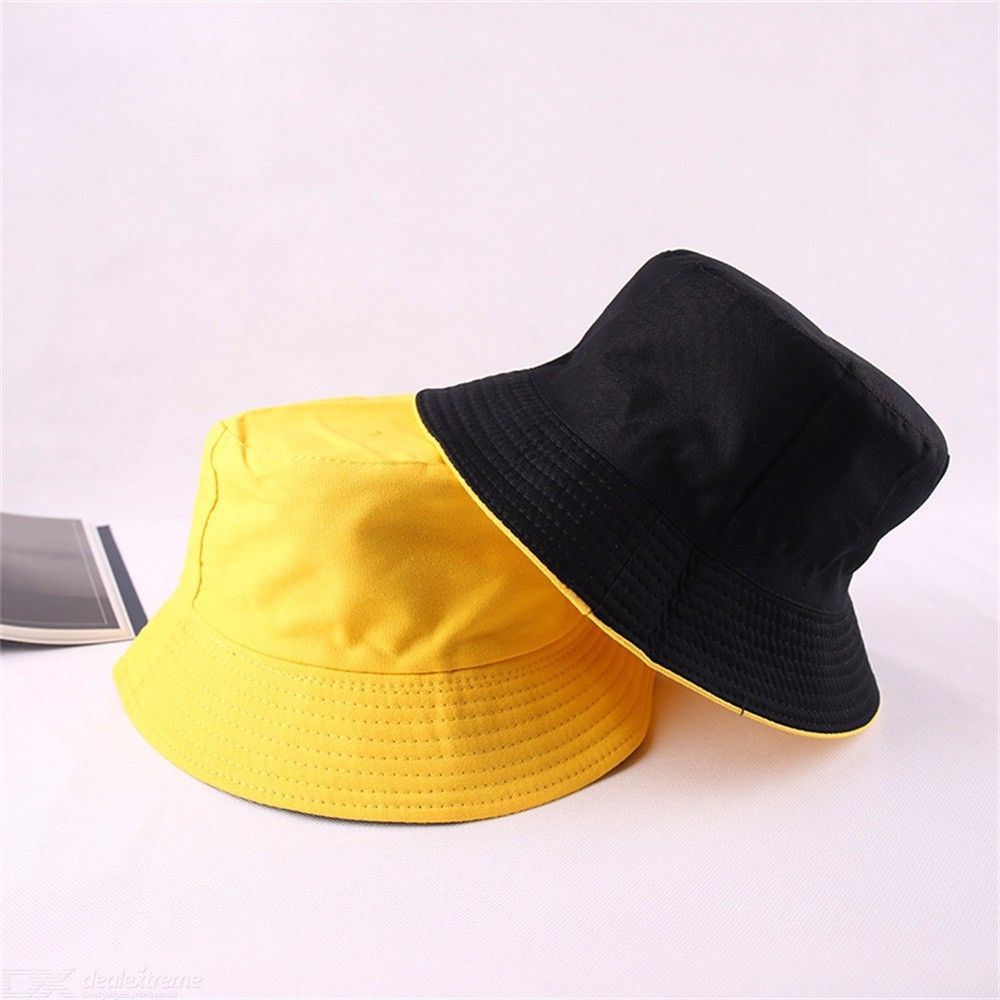 41702119ebfe8 Cotton Bucket Hat Double-Sided Wearable Sun Hats Summer Beach Cap - Free  shipping - DealExtreme