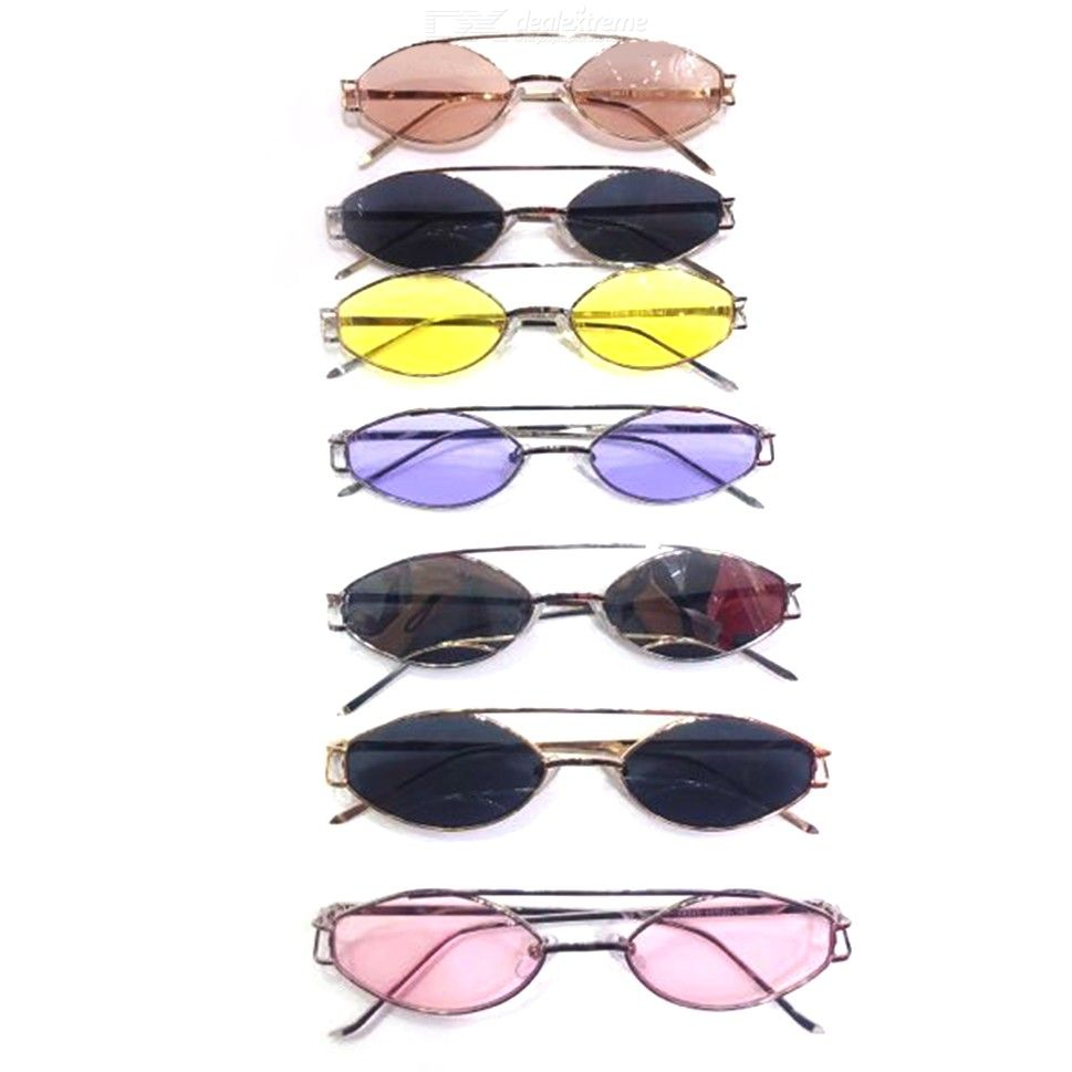 209f35afaf05 Slender Oval Sunglasses Small Round Fashion Sun Glasses For Men Women - Free  shipping - DealExtreme
