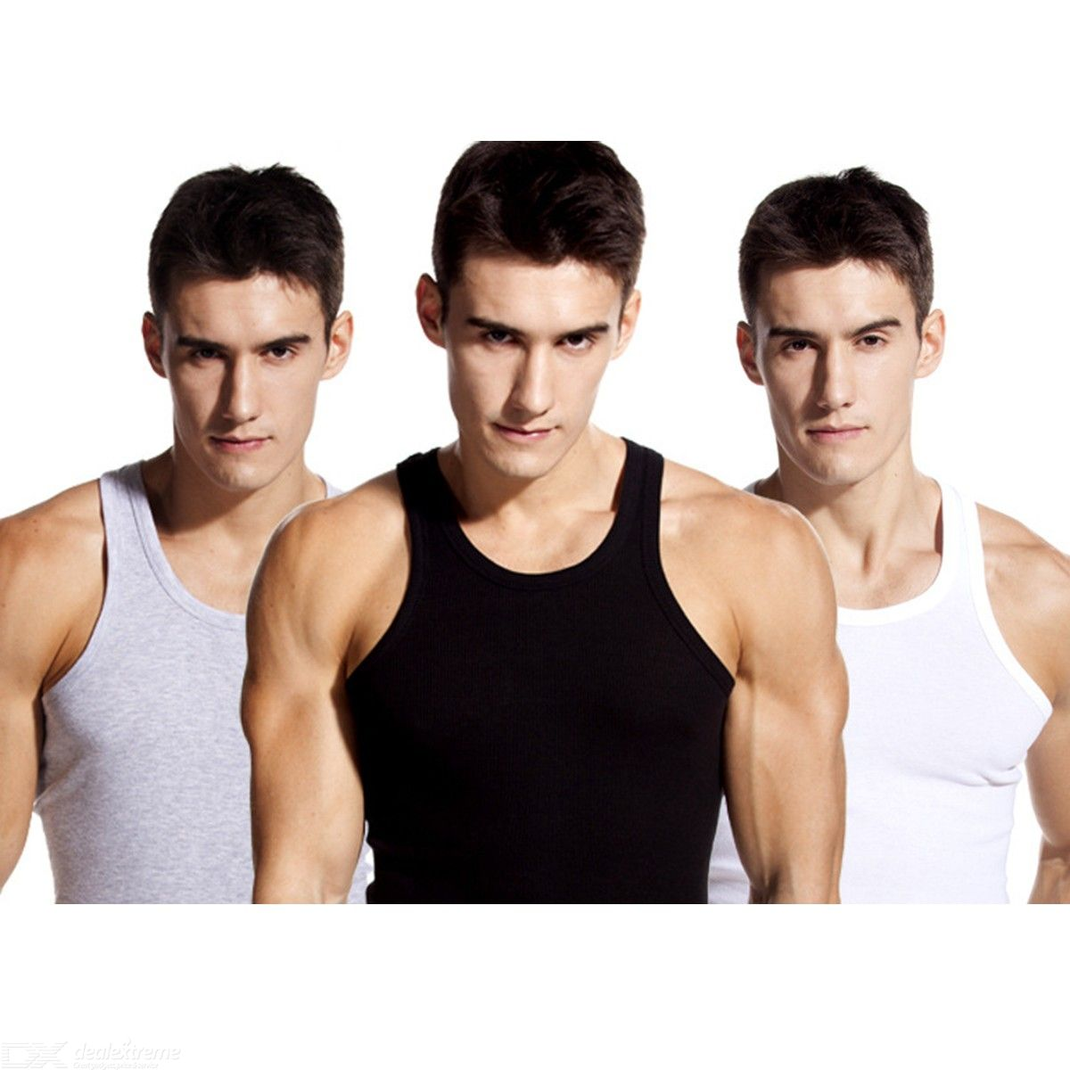 b19d83f624 Summer Male Slim Casual Tank Top Cotton O-neck Sleeveless Undershirts For  Men