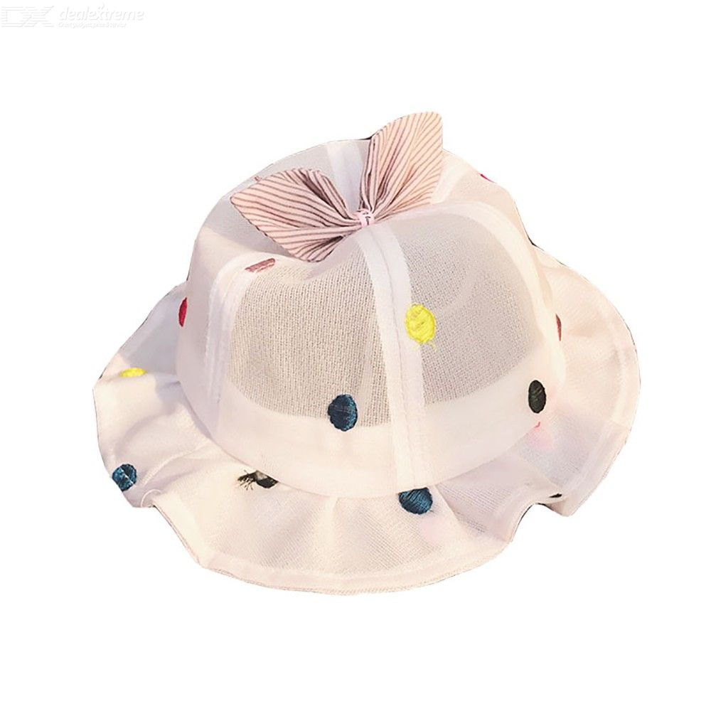 bf9e078a Cute Bow Fisherman Hat Breathable Bucket Hats Summer Sun Cap For Baby  Toddler Girls