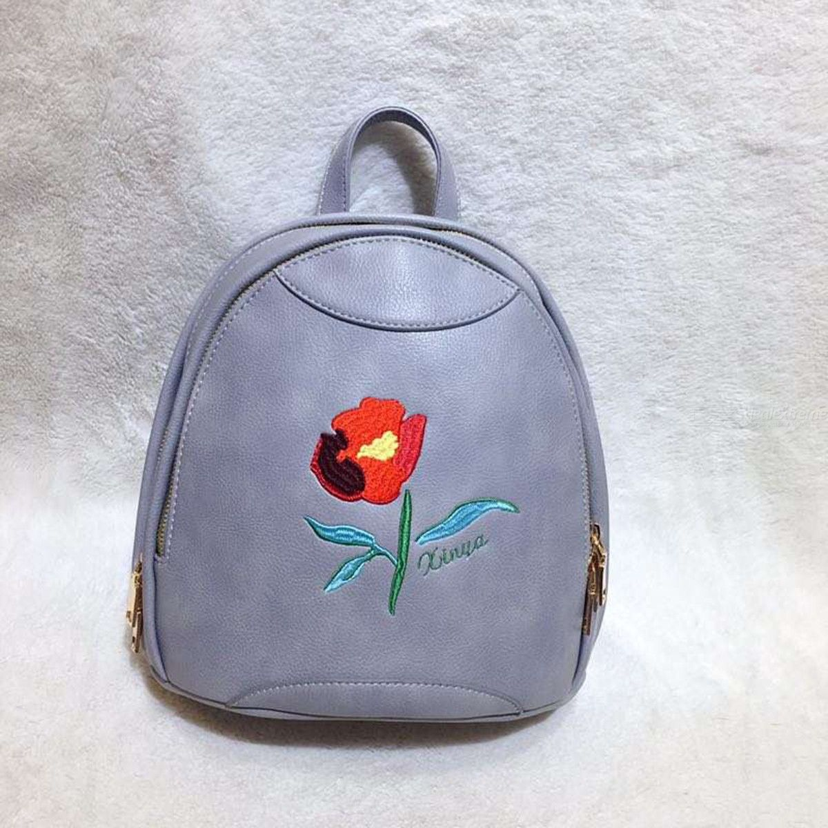 a50174aff341 Fashionable Adjustable Backpack Casual Portable Shoulder Bag With  Embroidery Pattern For Teenage Girls Ladies