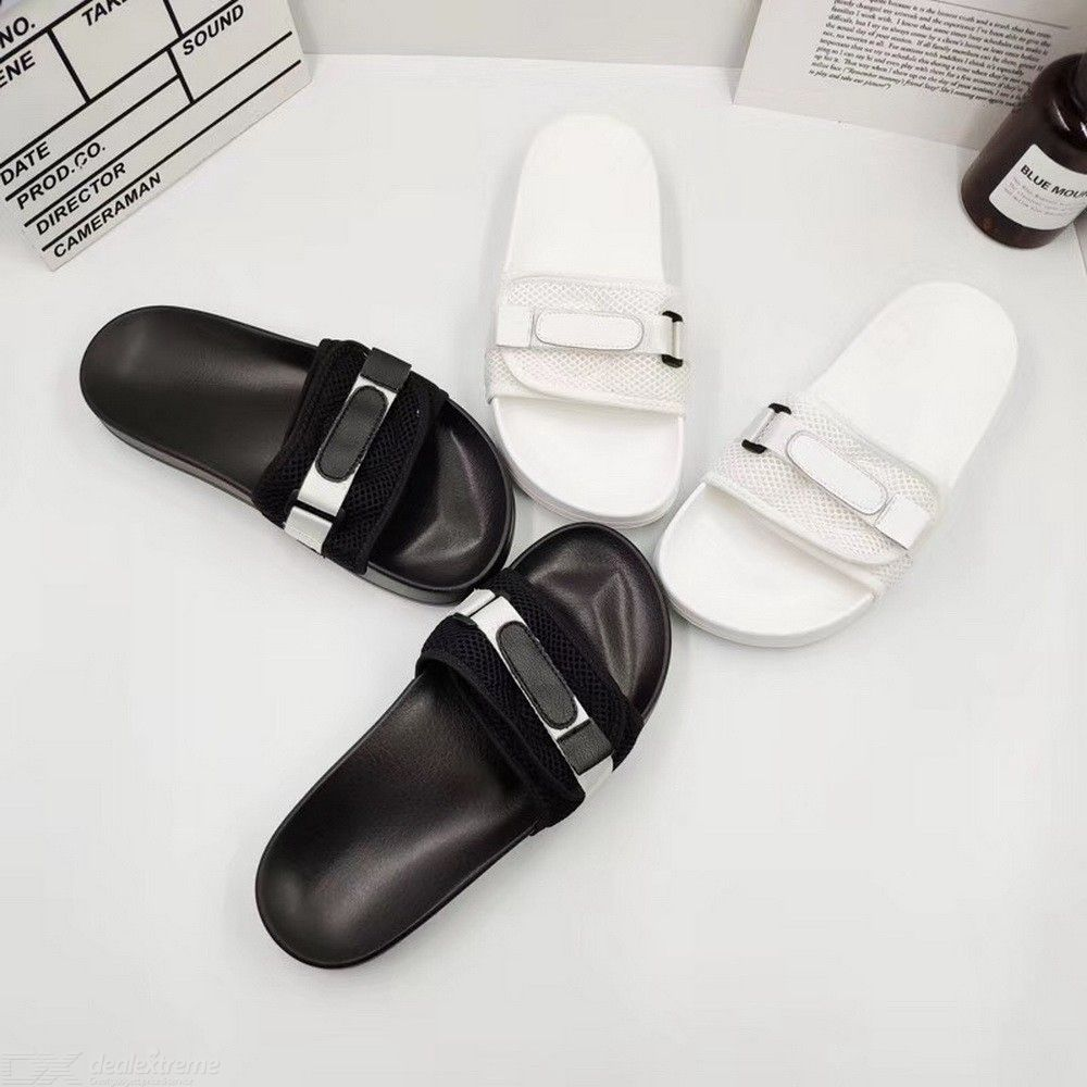 693eb927a Woman Casual Mesh Adjustable Buckle Ankle Strap Slip On Flat Slippers -  Free shipping - DealExtreme