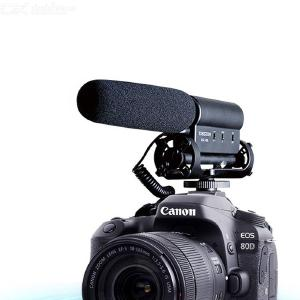 SGC-598 Video Recording Interview Microphone MIC for DSLR Nikon Canon Camera - Black