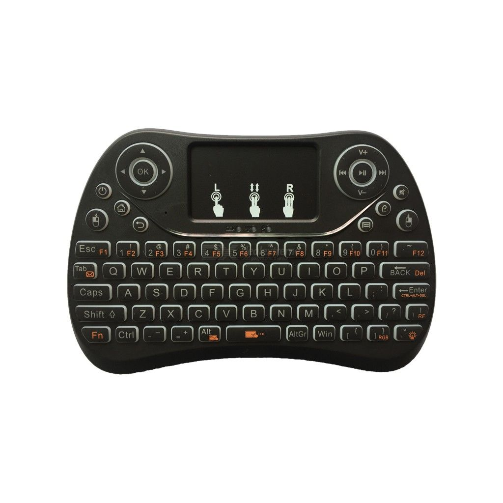 74706e3edcb I8 Max Mini Wireless Keyboard Rechargeable 2.4GHz Three-Color Backlit  Keyboards with Touchpad - Black - Free shipping - DealExtreme