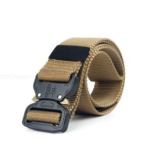 Mens Big Size Adjustable Tactical Canvas Buckle Belt With Multi-function For Special Technical Troops Training