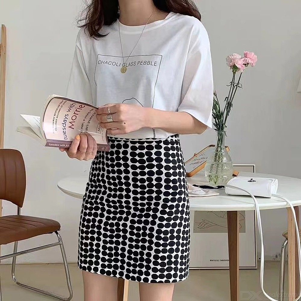 382f28e6ad Womens Classic High Waist Bodycon Mini Skirt Dots Pencil Skirts - Free  shipping - DealExtreme