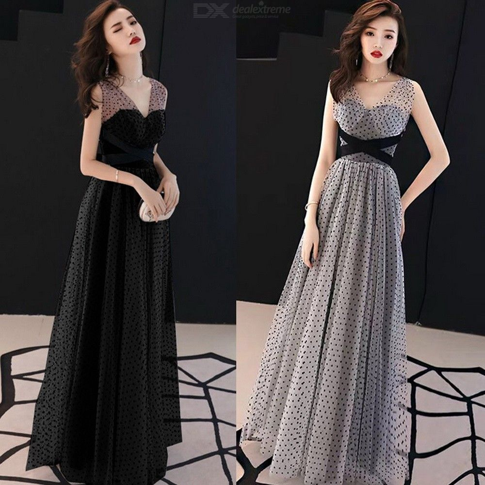 eca4ac7acb Women's Evening Gowns V-neck Empire Waist A-Line Maxi Dresses For Wedding  Cocktail Party Prom Banquet