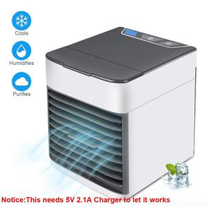 Portable Air Conditioner, USB air Cooler, Humidifier Purifier, Desktop Mini Cooling Fan for Home Office Outdoor