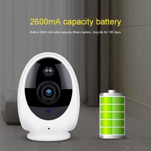 Wireless Security Camera, Indoor Outdoor 720 HD Surveillance IP WiFi Camera Asset Pet Monitor With IR Night Vision - White