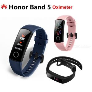Huawei Honor Band 5 Smart Wristband With Oximeter AMOLED Touch Color Screen Swim Posture Detect 5ATM Waterproof - Global Version