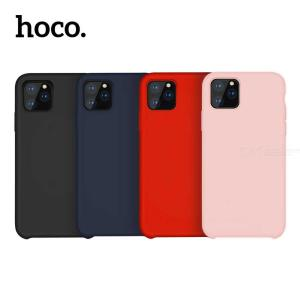 HOCO Solid Color Plain Thin Skin Cover Soft Flexible Protective Liquid Silicone Case For IPHONE 11 / 11 PRO / 11 PRO MAX