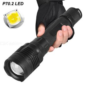 P62 Super Bright 4800LM Outdoor Flashlight High power Telescopic Zooming Waterproof Tactical Flashlight 18650/26650 Battery Powe