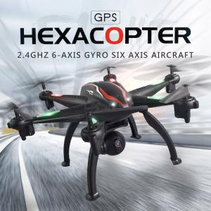 6 Axis RC Hexacopter GPS Drone With 1080P HD Camera 3D RollPositioningOne-Key OnOffSurround Flight 2.45G Helicopter