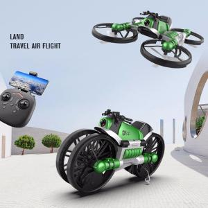 Creative RC Motorcycle And Drone 2.4G WiFi Dual-Mode Transforming Motorbike Quadcopter
