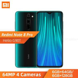 Global Version Xiaomi Redmi Note 8 Pro 6.53 Inch Moible Phone MTK Helio G90T 64MP Quad Rear Cameras 4500mAh Battery - EU Plug