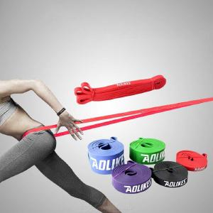 Yoga Resistance Loop Bands Natural Rubber Resistance Exercise Band For Home Fitness Stretching Strength Training