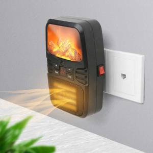 2 In 1 Portable Space Heater Quiet Mini Electric Personal Fan Security Fast Heating with RC for Table Desk - 220V