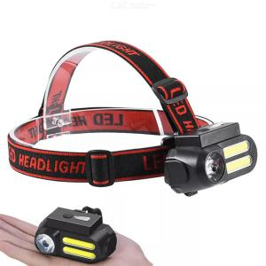 Multifunctional 650LM 4 Modes Headlamp Rotatable USB Rechargeable Headlamp Waterproof Outdoor Camping Hiking