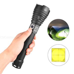 XHP90 Ultra Bright Flashlight 2500LM Outdoor Waterproof Zoomable Torch Light With 3 Light Mode W/ 1 Lanyard