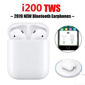 i200 TWS Bluetooth 5.0 Wireless Earbuds In-Ear Headphone, Deep Bass Sport Earphone with Pop up Touch Function