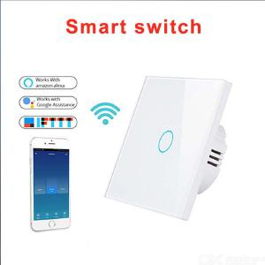 Wifi Smart Light Switch Wall Touch Screen 1 2 3 Gang Voice Control Timing Switch Compatible With Alexa Google Home - EU Version