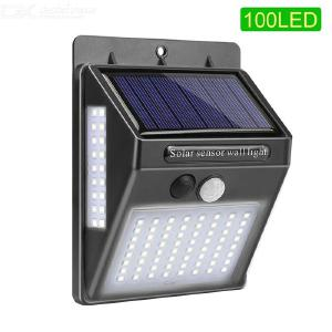 Outdoor Motion Sensor Light 100LED Super Bright Solar Powered Wall Mounted Lamp