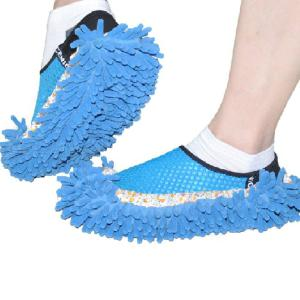Practical Chenille Mop Slippers Dust Floor Cleaning Mopping Foot Shoes Washable Detachable House Shoe Covers (2PCS)