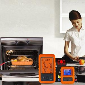 Wireless Remote Food Thermometer Home Kitchen Barbecue BBQ Electronic Digital Food Thermometer