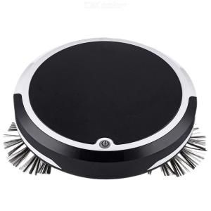 Smart Robot Vacuum Cleaner USB Charging Home Wet Dry Sweeping Mopping Robots - Black