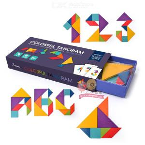 Kids Tangram Creative Educational Puzzle For Boys And Girls W/50PCS Cards
