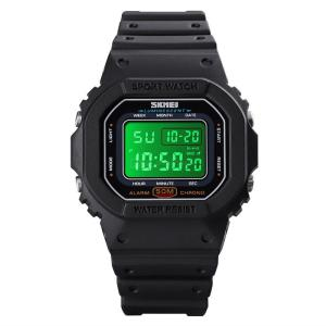 SKMEI 1608 Multifunctional Digital Wristwatch, Waterproof LED Sports Watch With PU Strap And Calendar Function For Students
