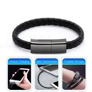 Long 22.5cm Type-C Creative Bracelet Quick Charge Data Cable for USB-C Devices
