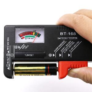 BT-168 AA/AAA/C/D/9V/1.5V Universal Button Cell Battery Colour Coded Meter Indicate Volt Tester Checker