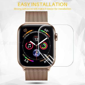 Transparent Screen Protector Film For Apple Watch 1 2 3 4 5 Series 38/40/42/44mm, Tempered Glass Film for iWatch