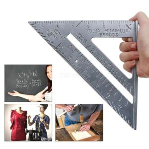 90 ° / 45 ° Aluminum Alloy Triangle Ruler Level Measuring Tool