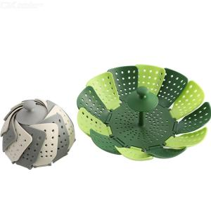 Steamer Basket Foldable Food-Grade Silicone Steamer Insert