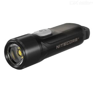 NITECORE TIKI LE Black Mini Futuristic Keychain Light 300 Lumen USB Rechargeable LED Flashlight
