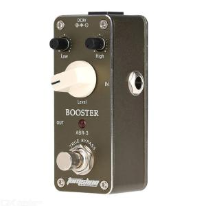 Aroma ABR-3 Mini Booster Electric Guitar Effect Pedal with Fastener Tape Aluminum Alloy Housing True Bypass